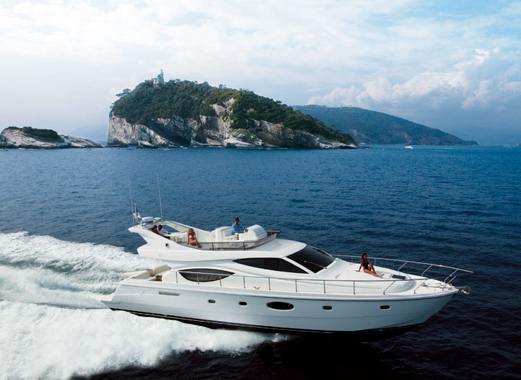 Book Ferretti 550 Yacht on rent in Mumbai, Goa - Funkey Event
